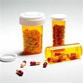 Bottles of prescription drugs